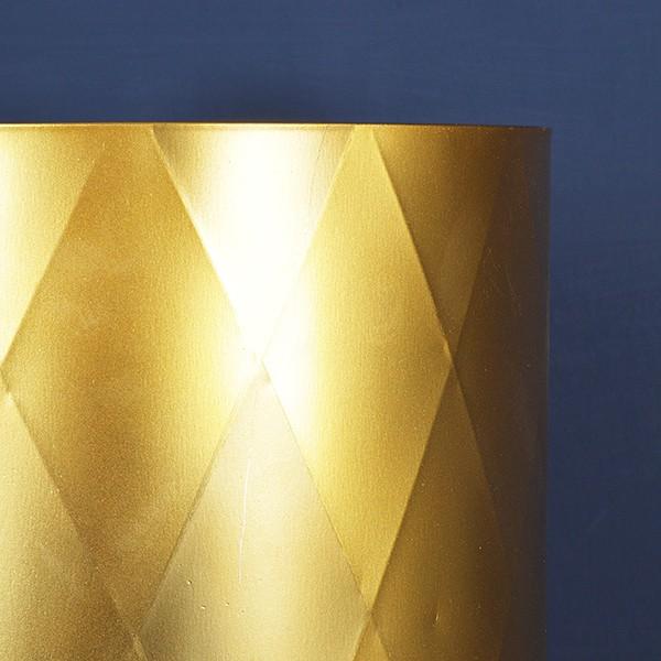 Harlequin plant pots gold XS