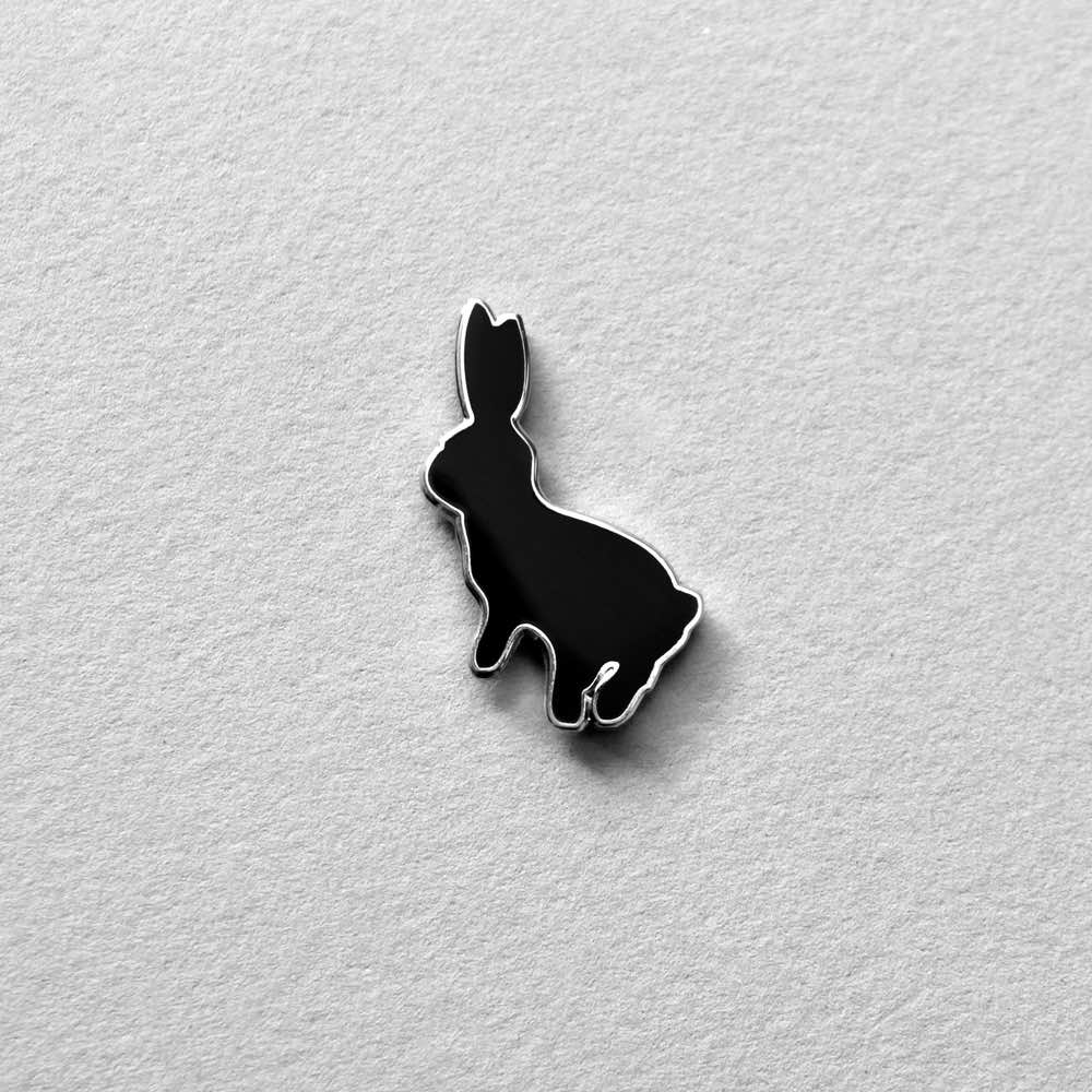 Bouncing Rabbit Enamel Pin