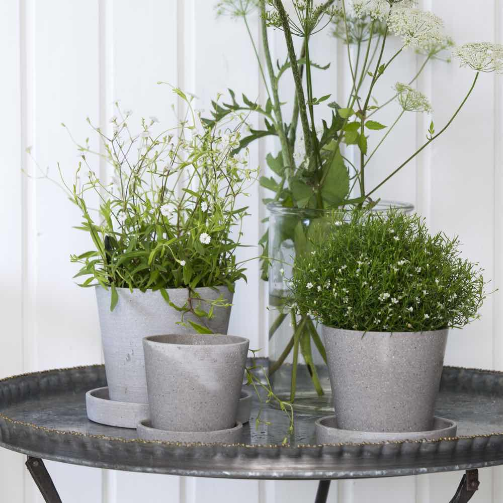 Polystone plant pot small
