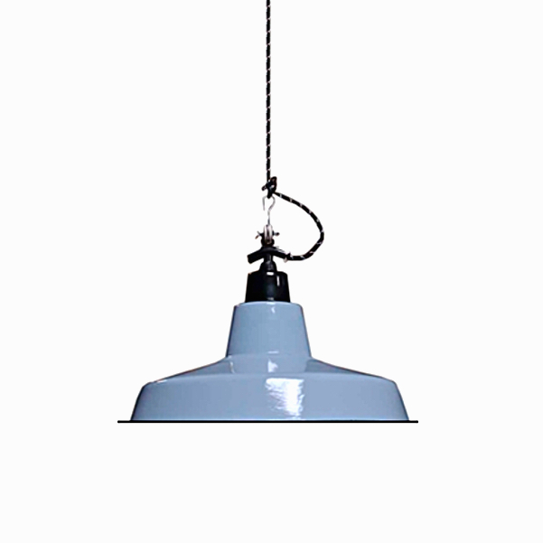 Enamel Lamp Shade Light Blue-Grey