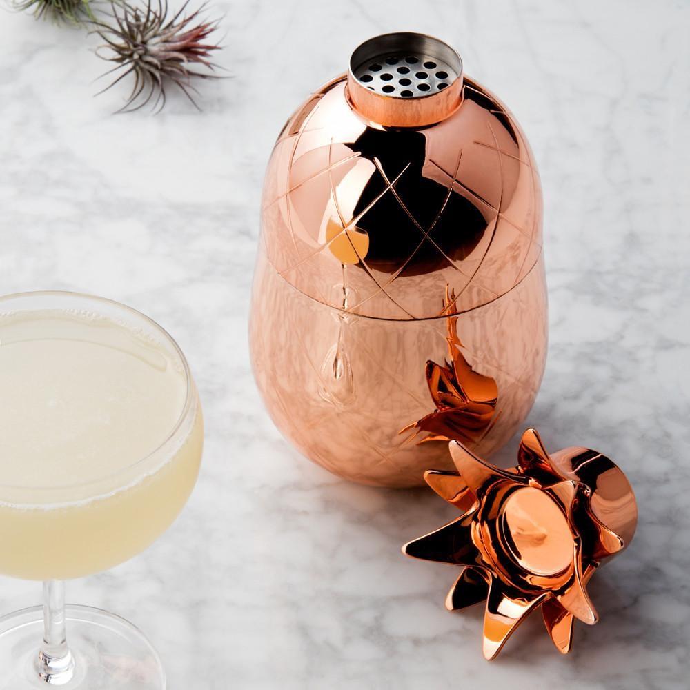 Pineapple Cocktail Shaker Copper