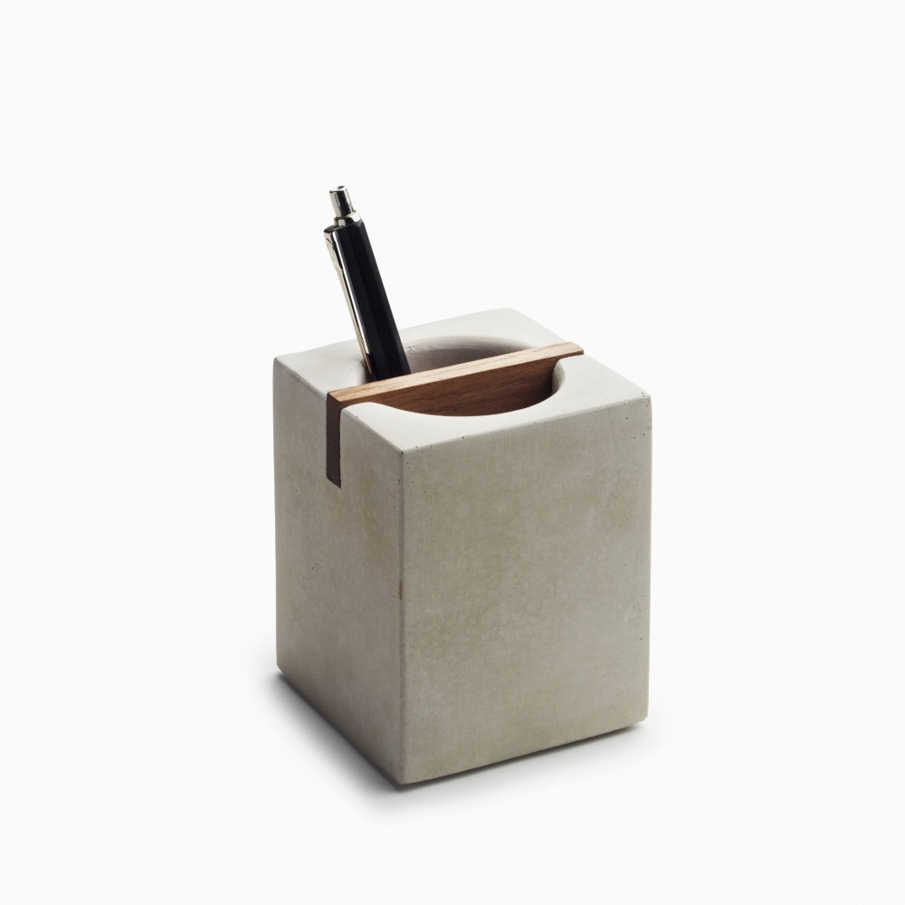Concrete Pen Holder