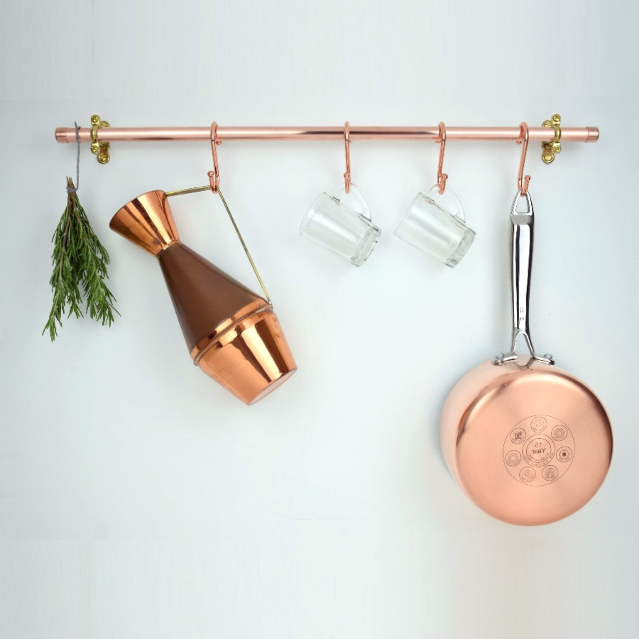 Copper Rail with Hooks