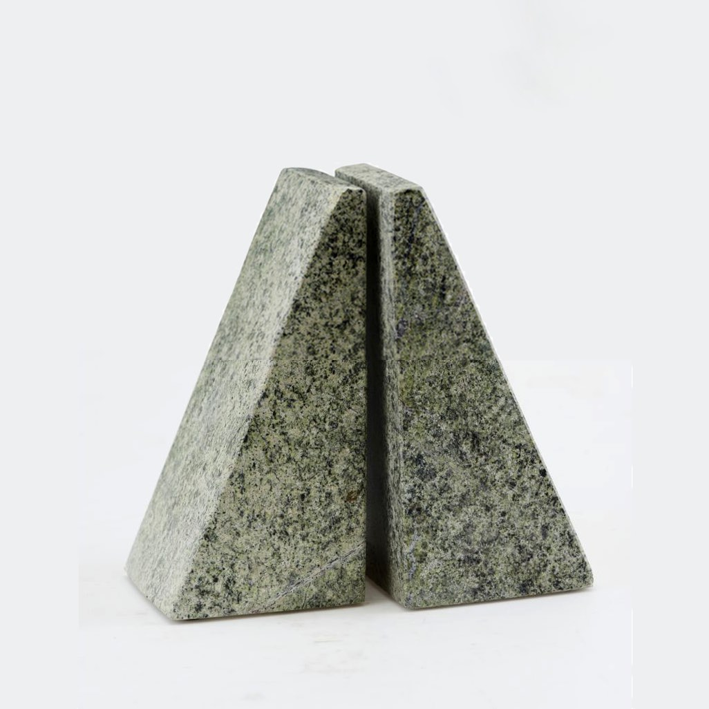 Bookends Triangle Marble