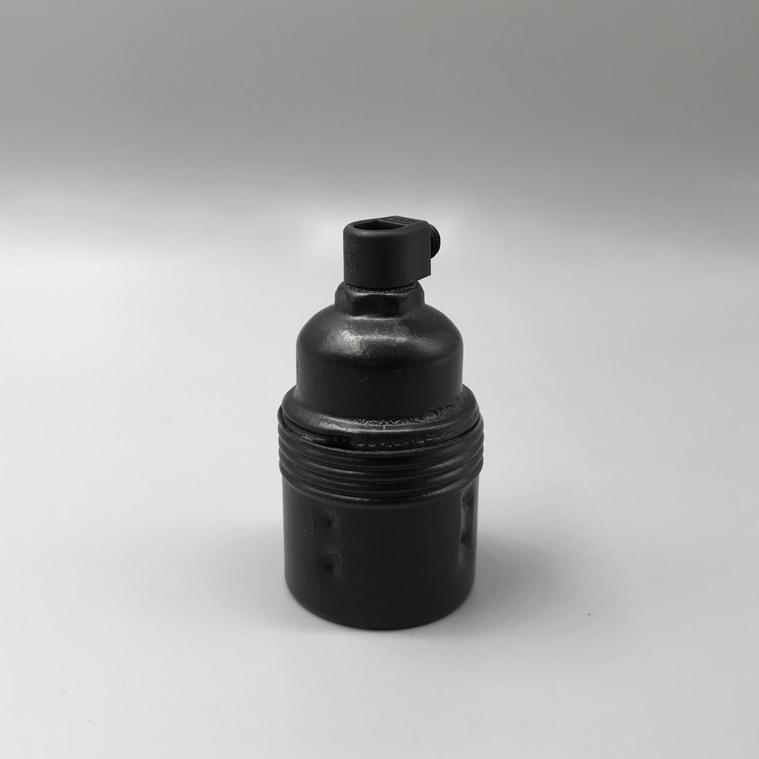 Bulb holder metal black