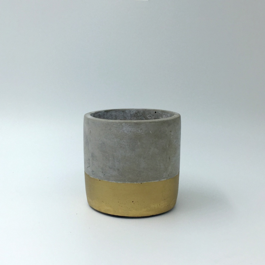 Gold Dip Cement Pot Mini
