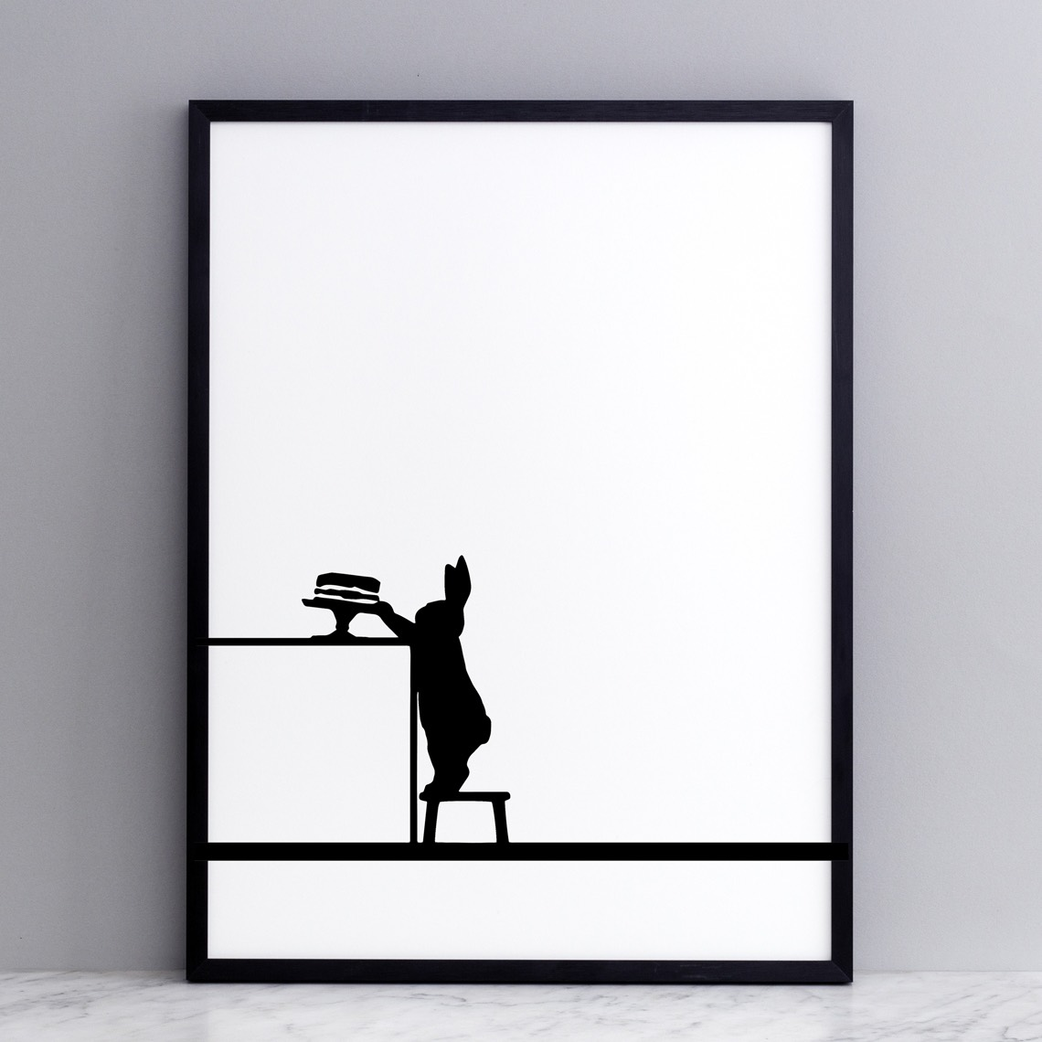 Cake Loving Rabbit Print