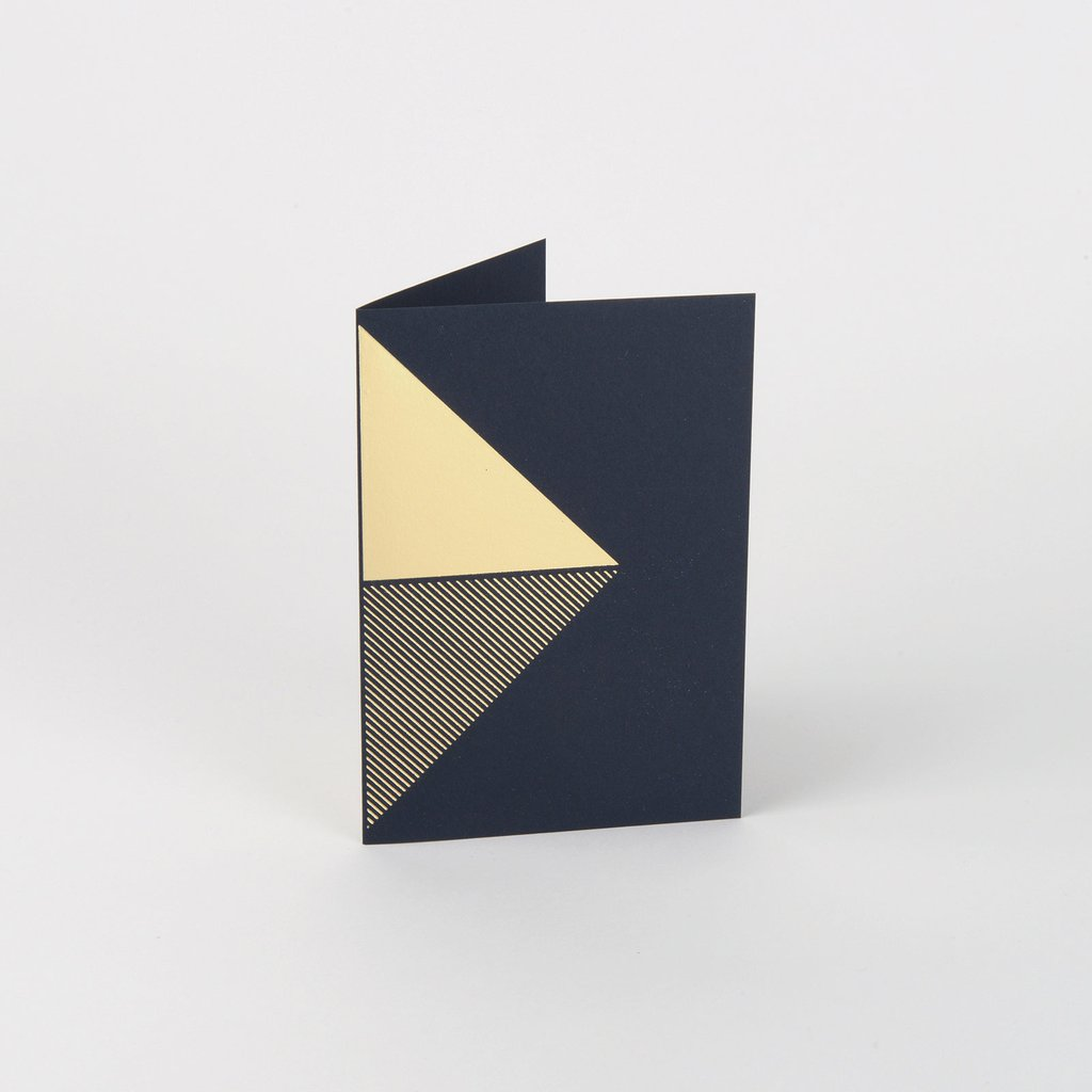 Reflex Card Brass & Navy