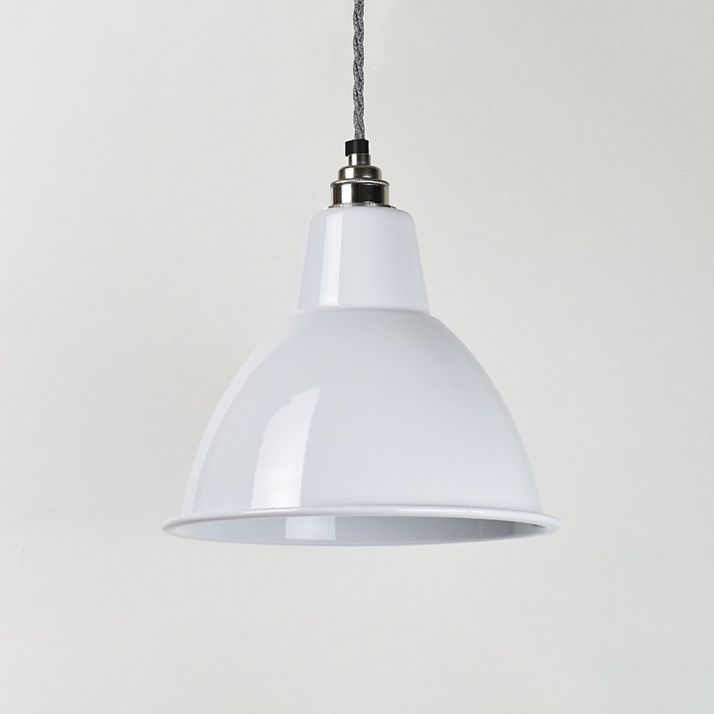 Dome Enamel Shade White