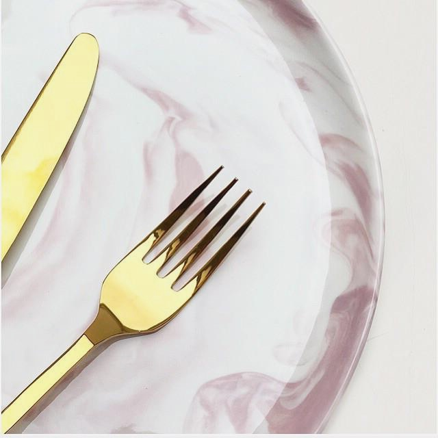 Marble Side Plate Pink