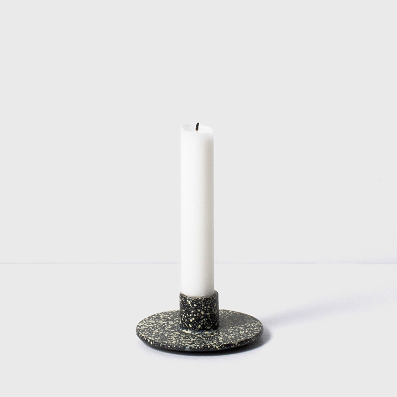 Cast Iron Candle Holder Spotted