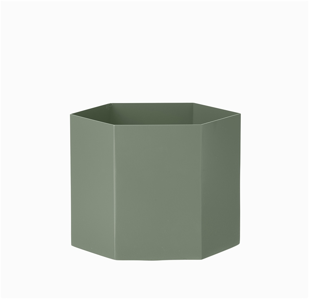 Hexagon Pot Dusty Green XL