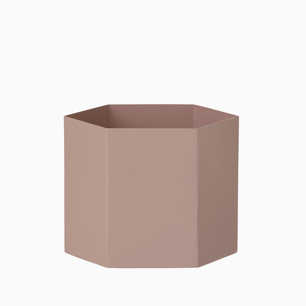 Hexagon Pot Rose XL