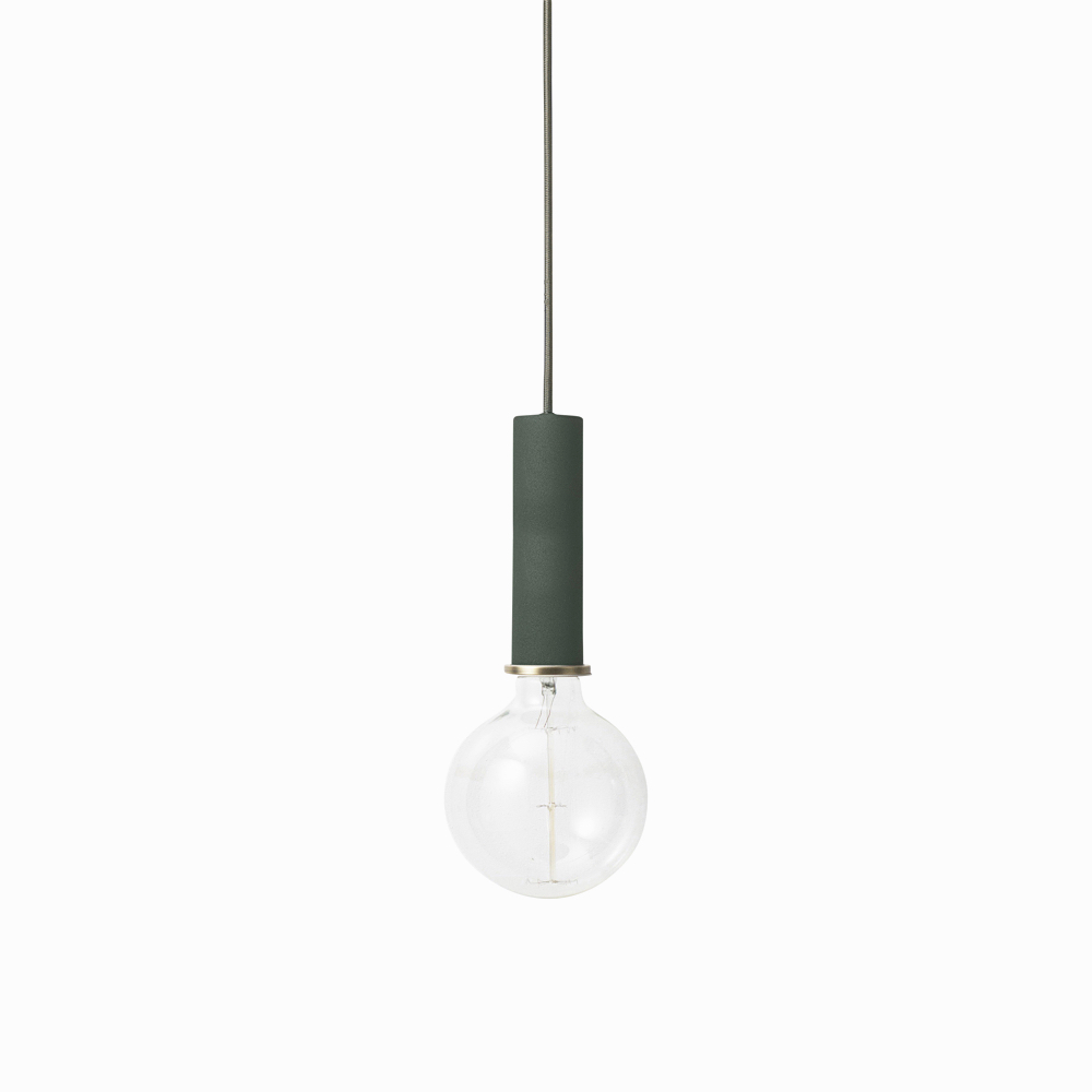 Socket Pendant High Dark Green