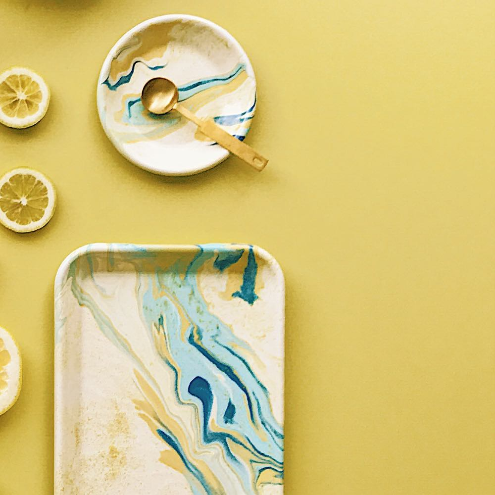 Enamel Small Tray Lemon
