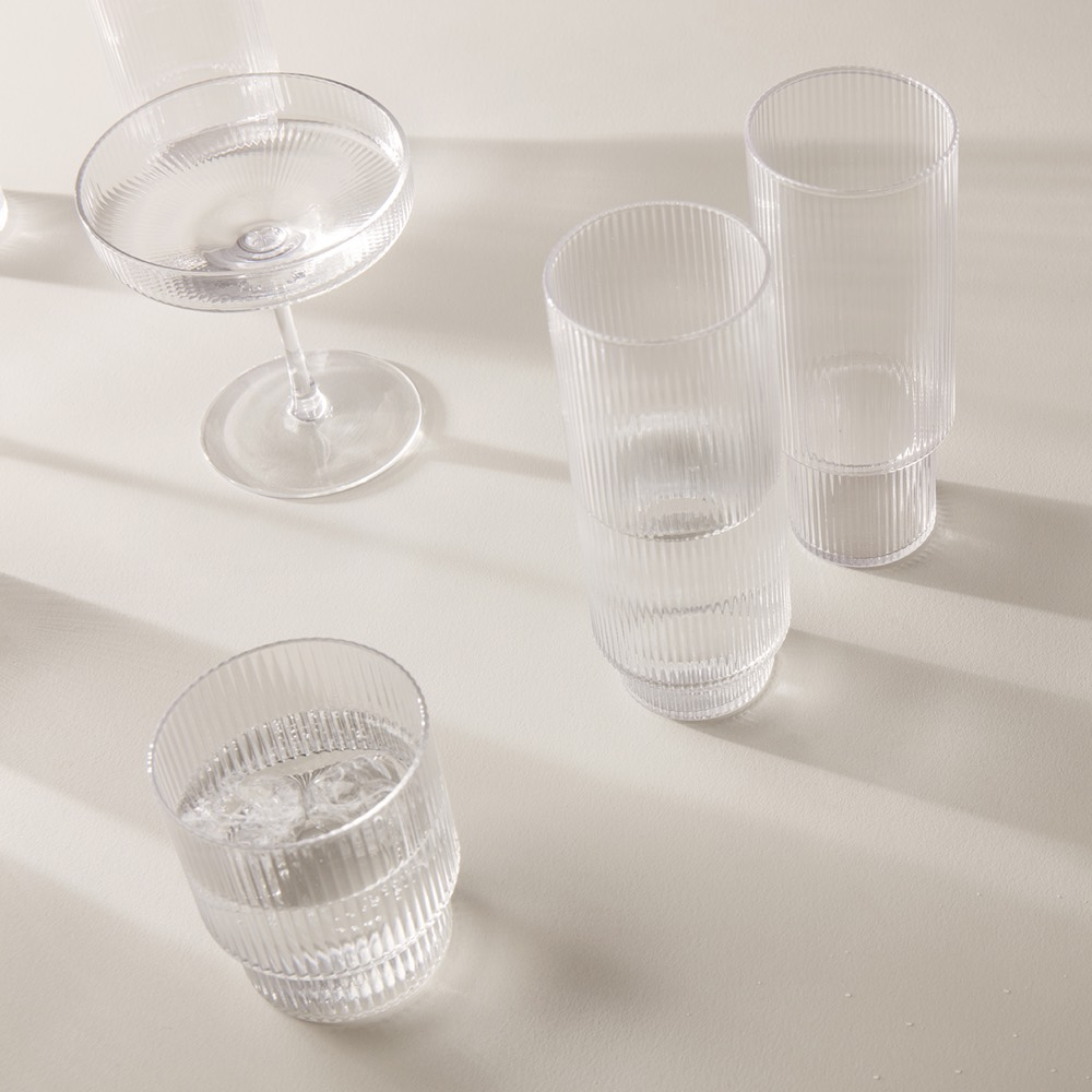 Ripple Champagne Saucers Set