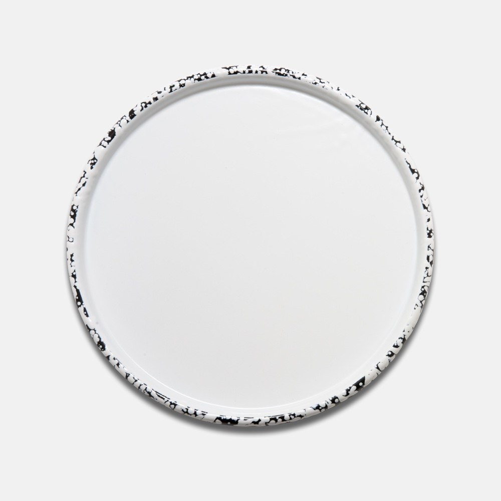 Splattered Enamel Tray White