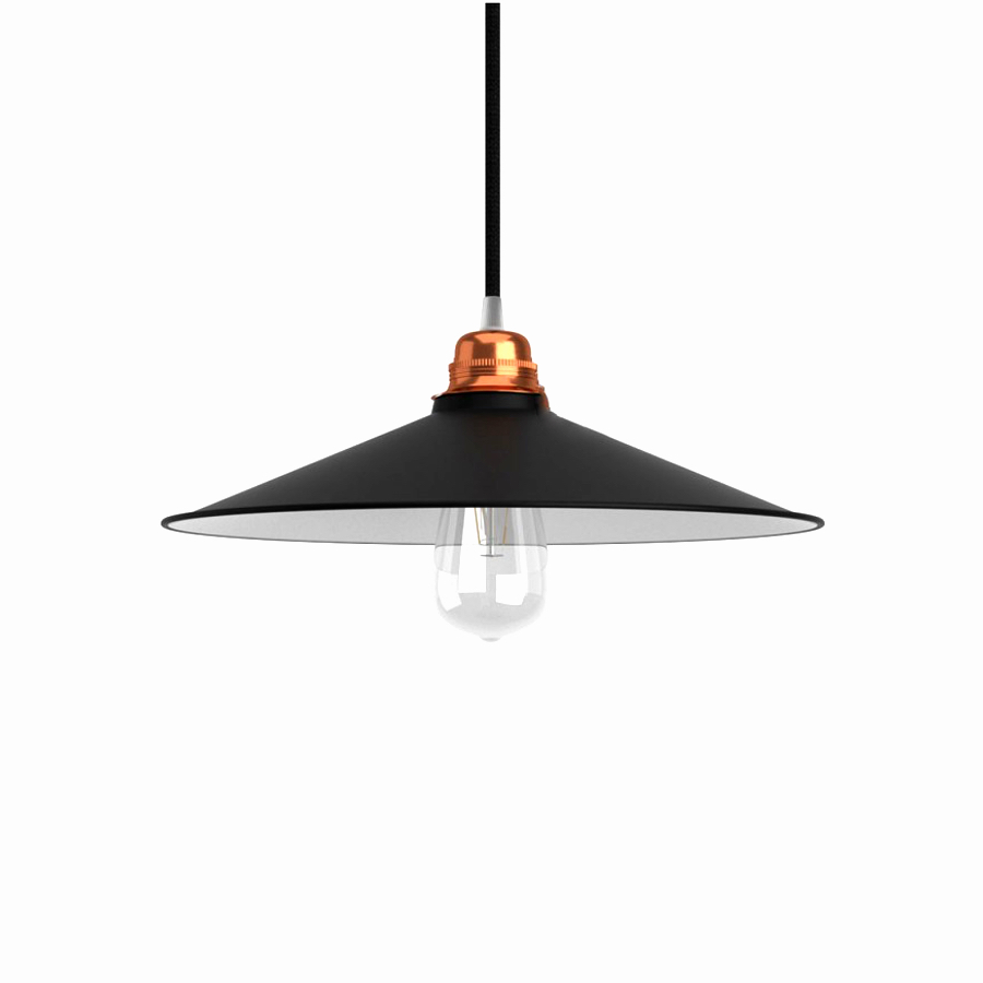 Polished Black Flat Metal Shade