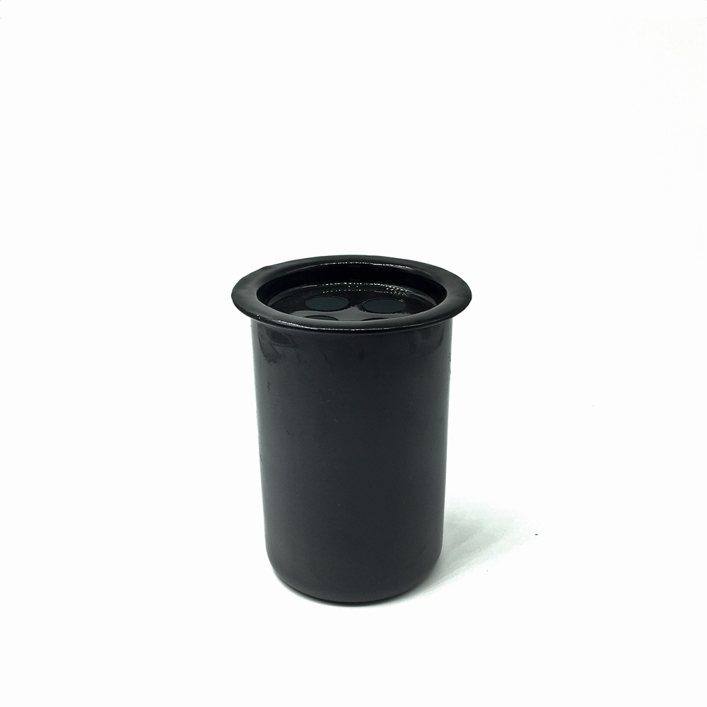 Enamel Black Toothbrush Holder
