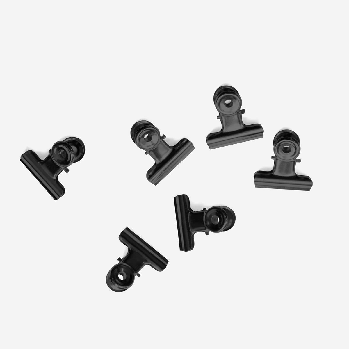 Mini Bulldog Clip Black x6