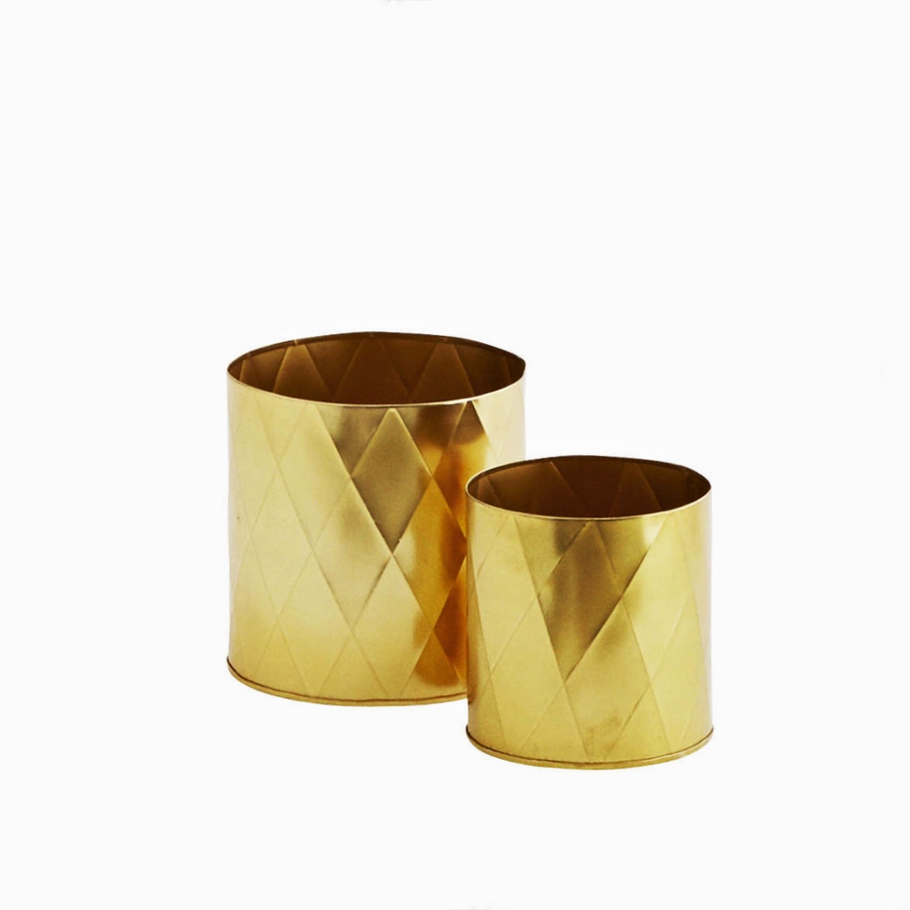 Harlequin plant pots gold XS