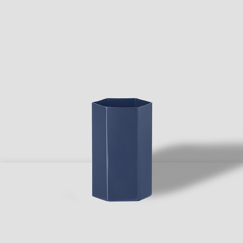Hexagon Vase Blue Small
