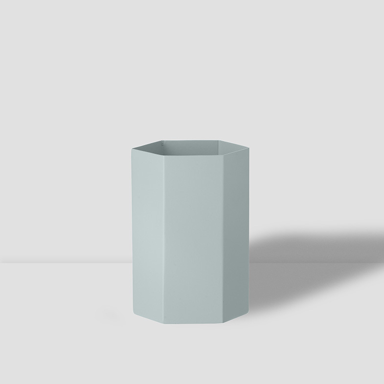 Hexagon Vase Light Blue