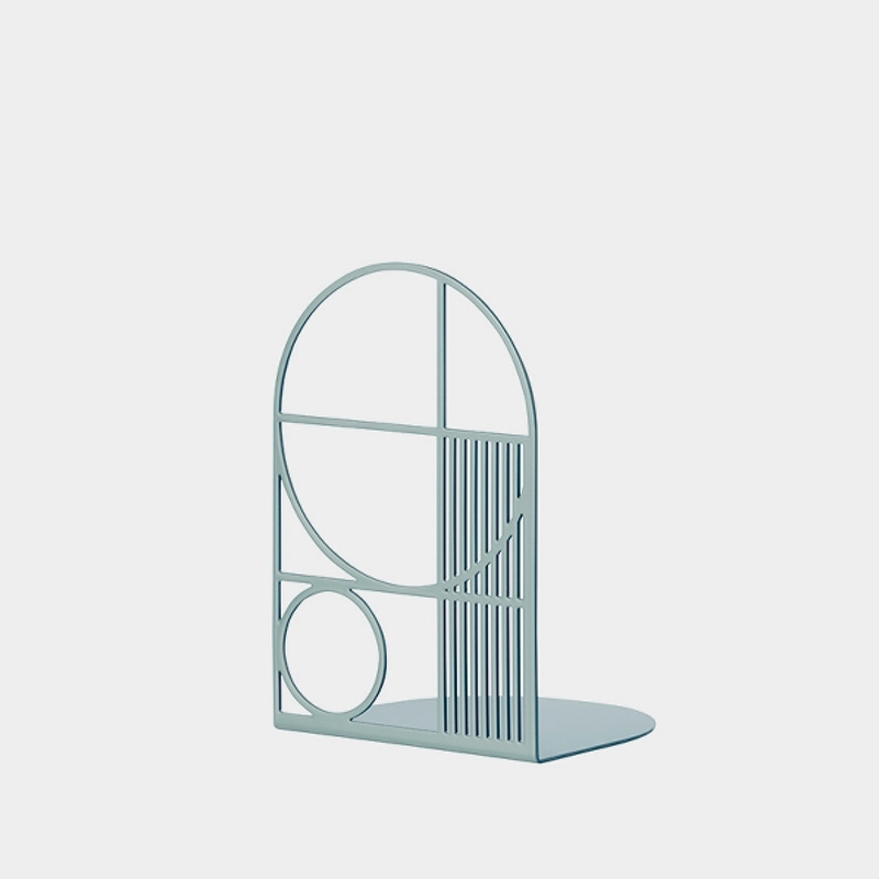 Outline Bookend Dusty Blue