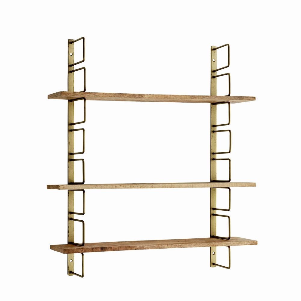 Brass Wall Rack