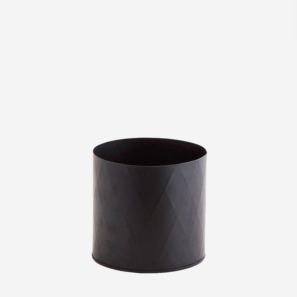 Harlequin plant pot black small