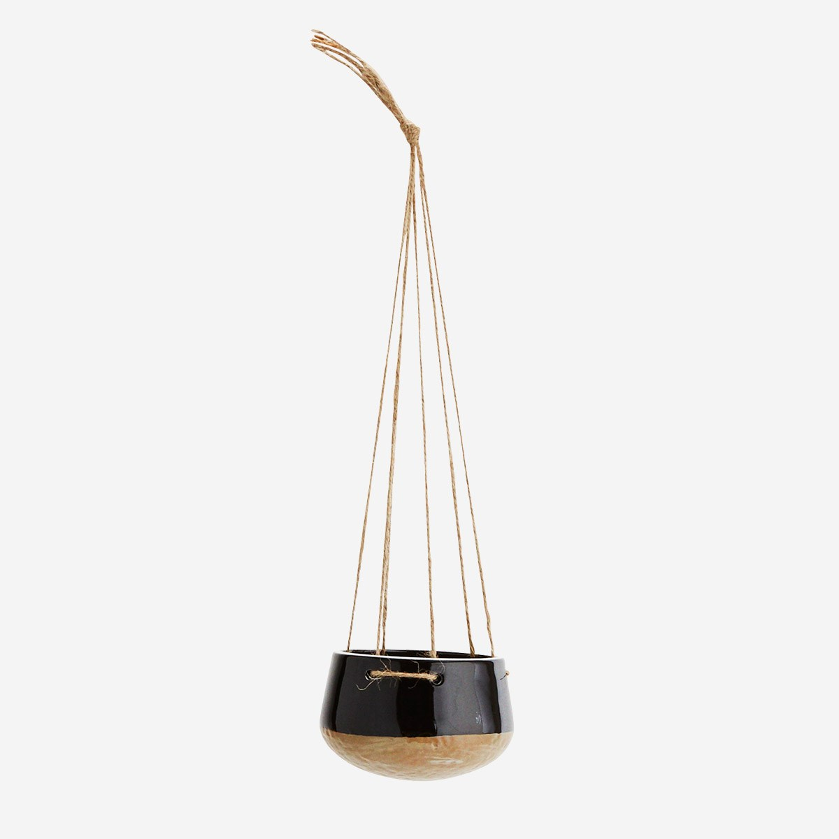 Porcelain hanging pot black