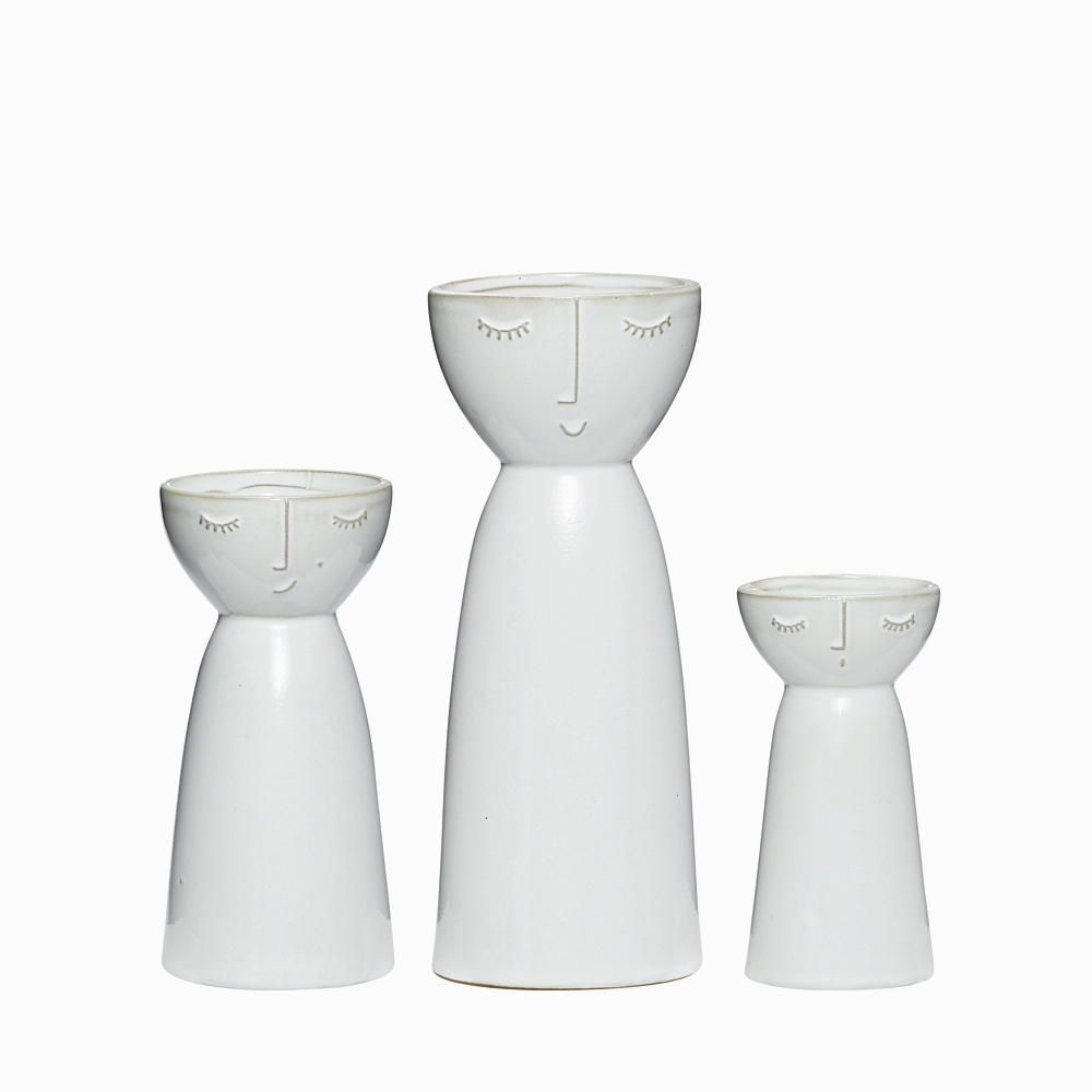 Ceramic Face Vase Set