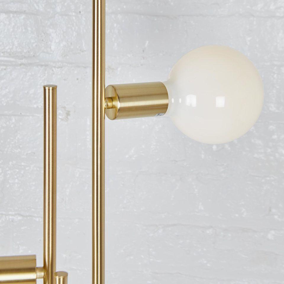 Tri Opal Brass Lamp