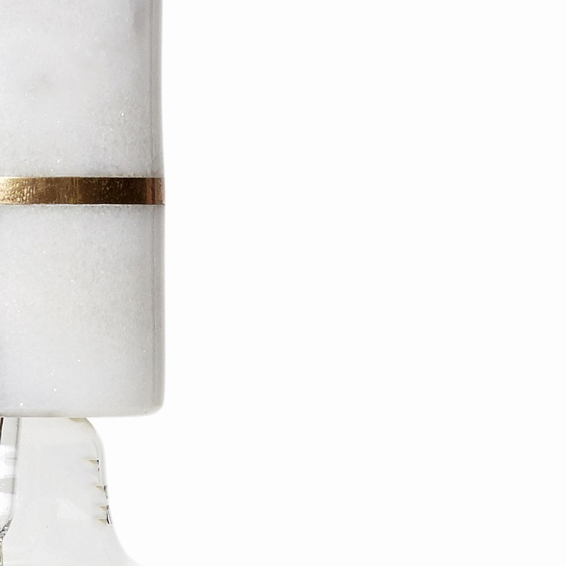 High Marble Pendant White-Brass