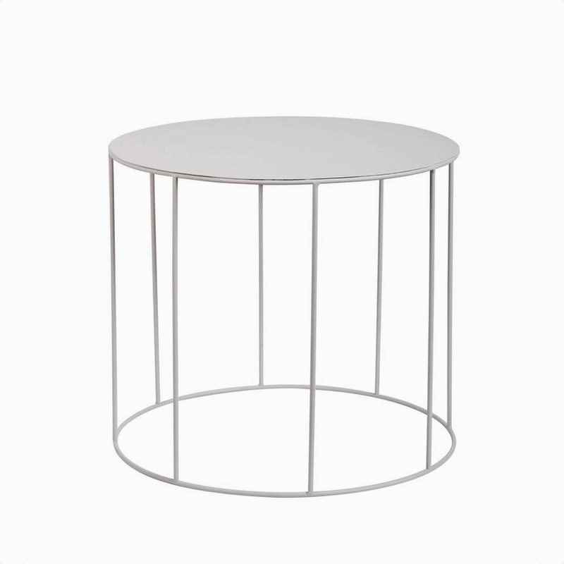 Side Table Round Grey