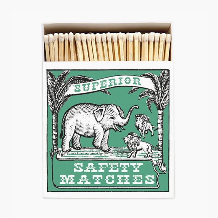 Elephant and Lion Luxury Matches