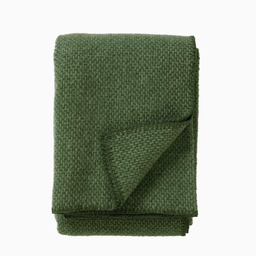 Domino Wool Throw Green