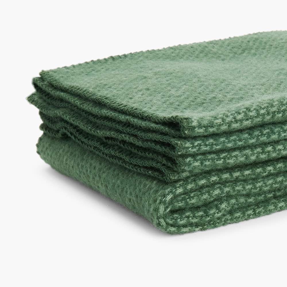Domino Wool Throw Green