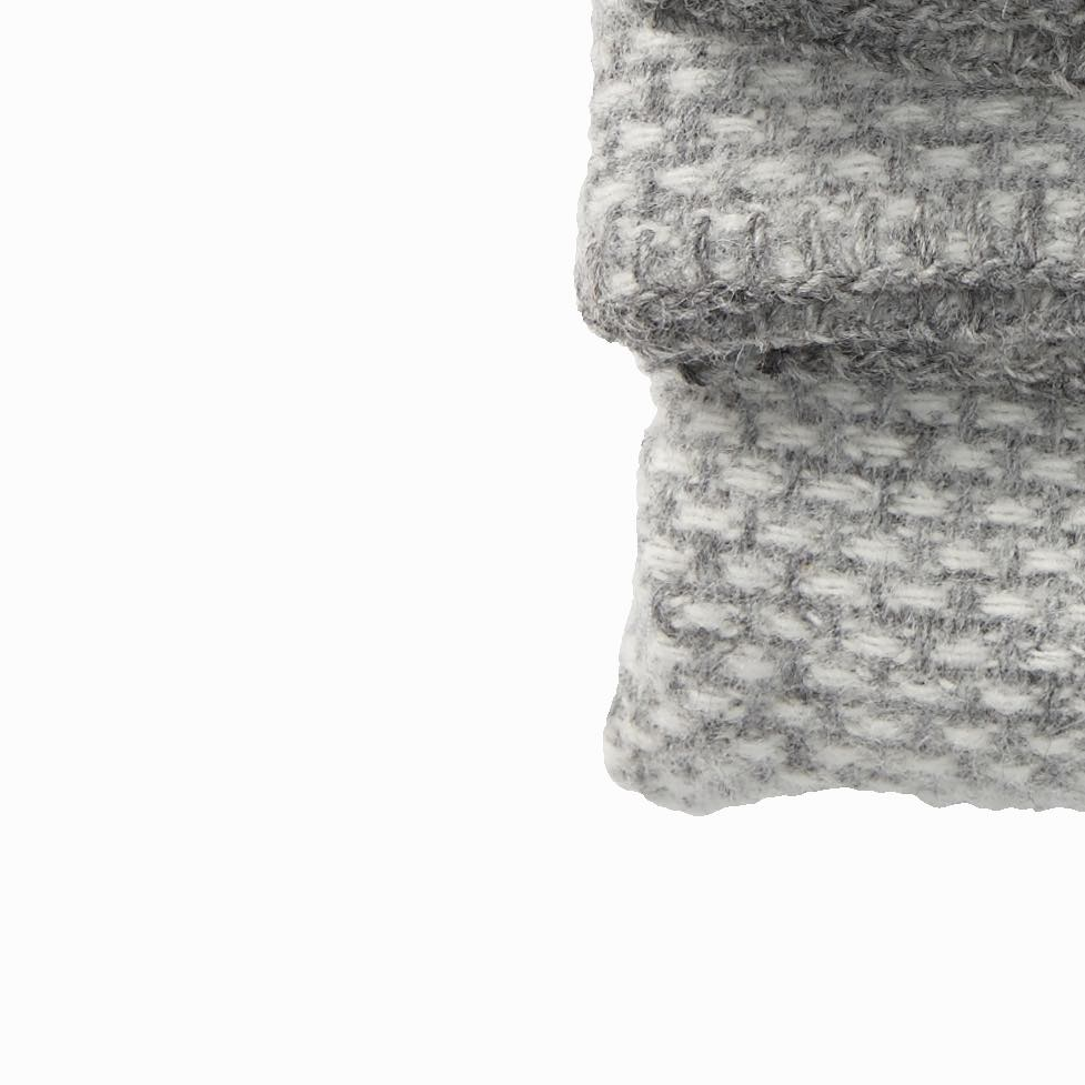 Domino Wool Throw Light Grey