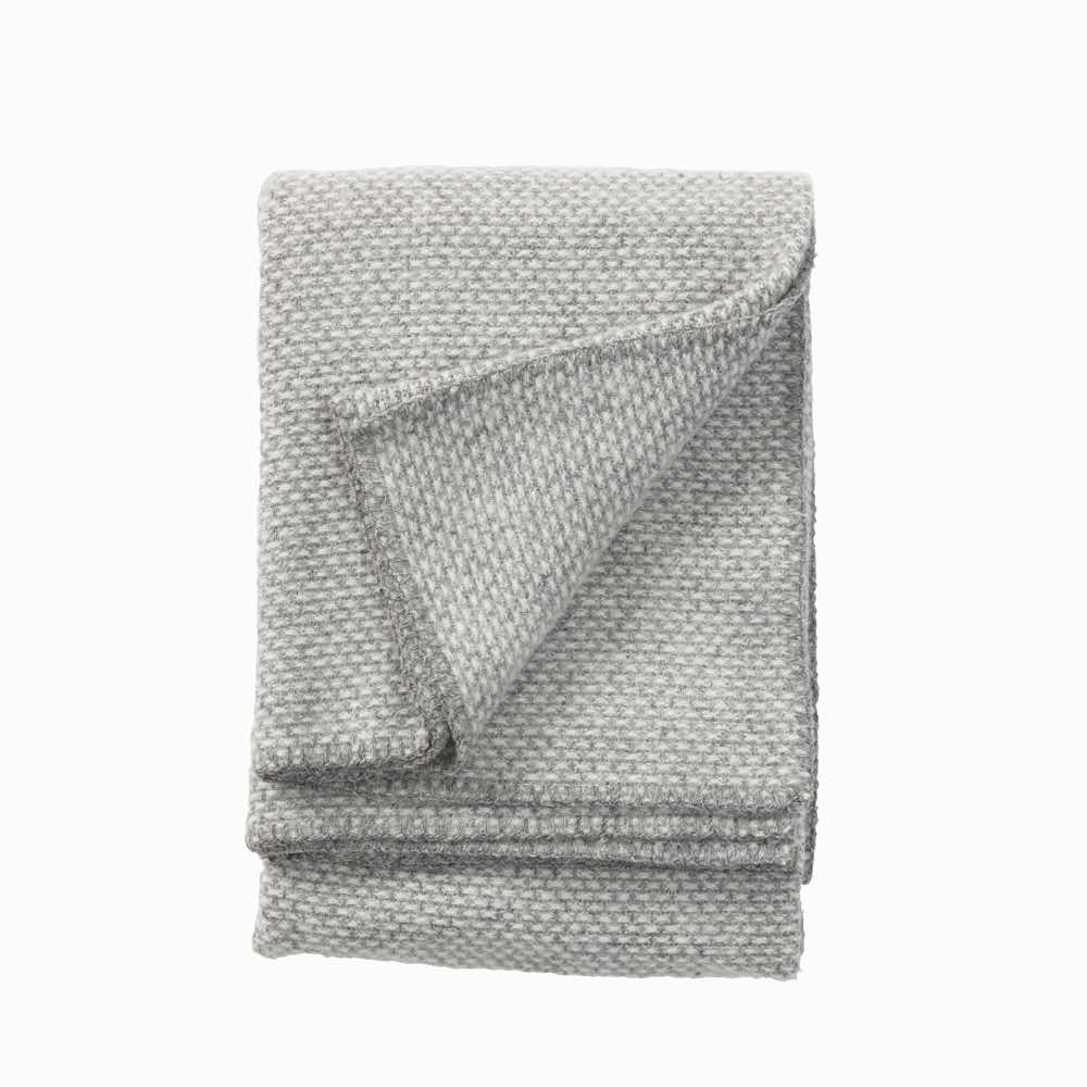 Domino Wool Throw Light Grey