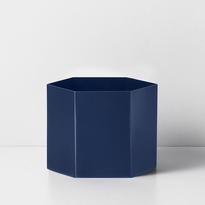 Hexagon Pot Blue
