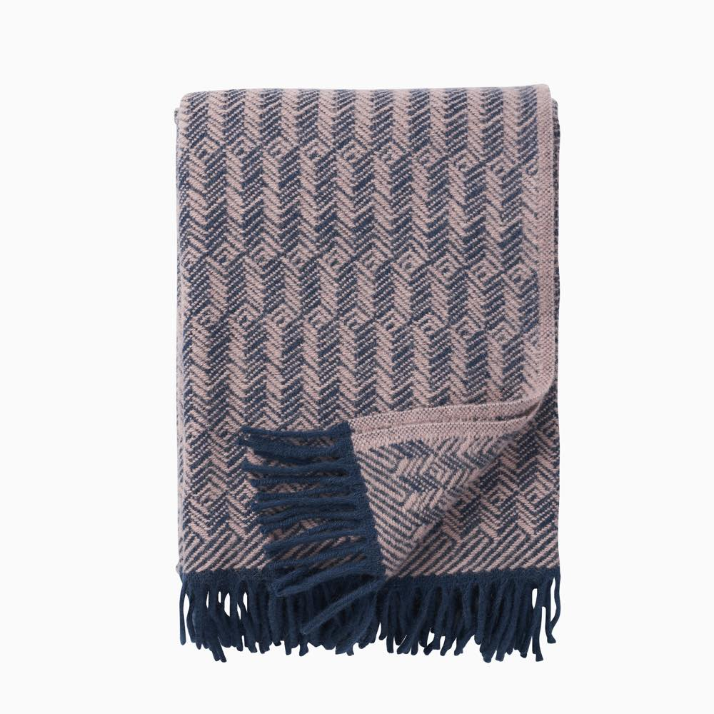Tage Wool Throw Lilac-Blue