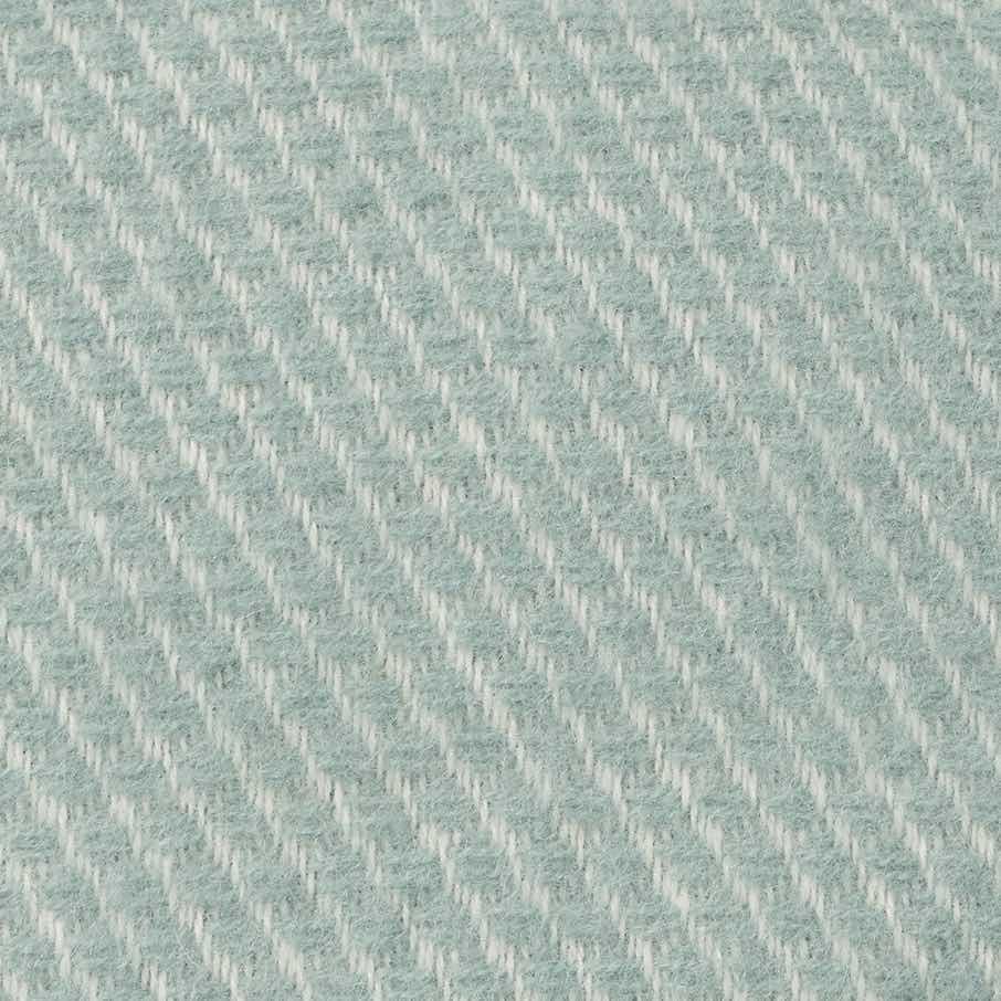 Velvet Wool Throw Duck egg blue