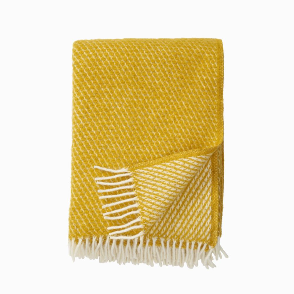 Velvet Wool Throw Saffron