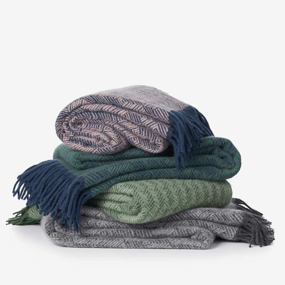 Tage Wool Throw Green-Blue