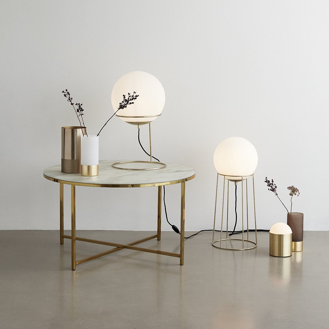 Gold Milky Floor Lamp