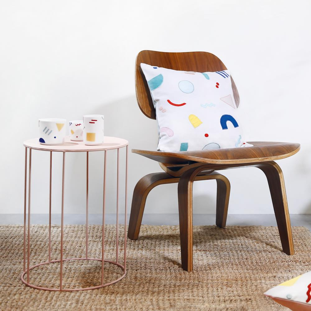 Side Table Round Pink
