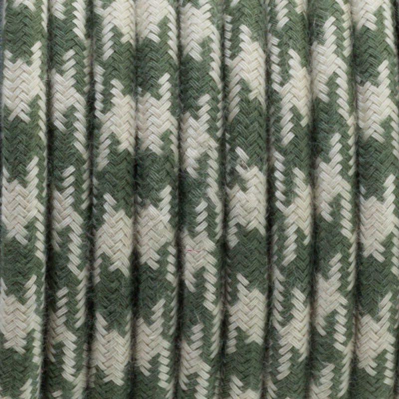 Bicoloured Thyme Green Round