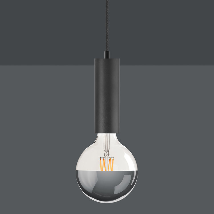 Black Sol Plug-In Pendant Lamp