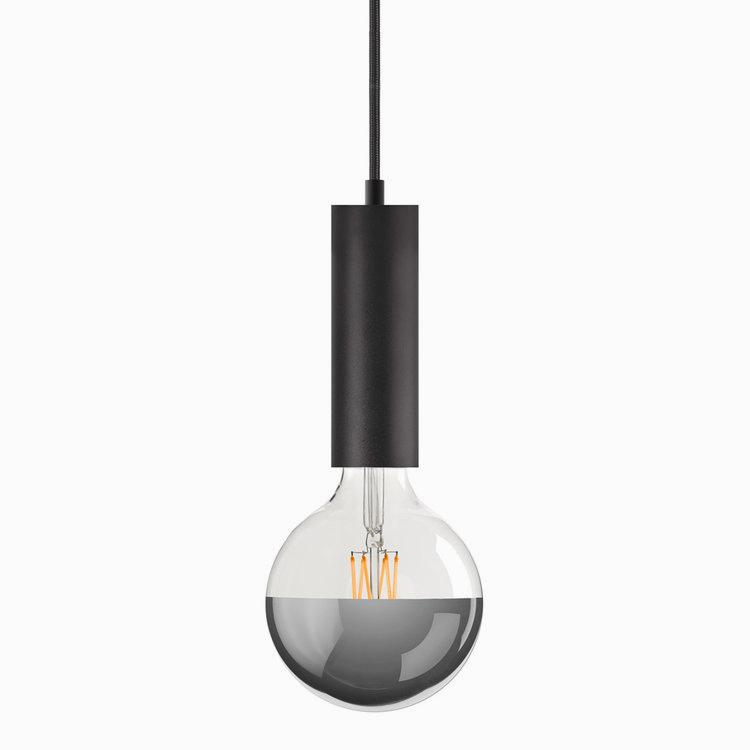 Black Sol Plug-In Pendant Lamp